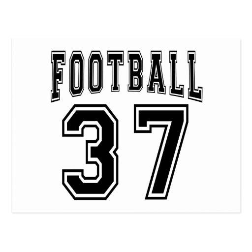 Football Crazy 37 Birthday Designs Postcards