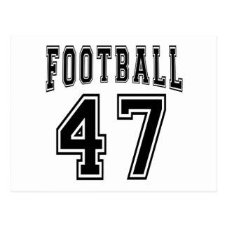 Football Crazy 47 Birthday Designs Postcards