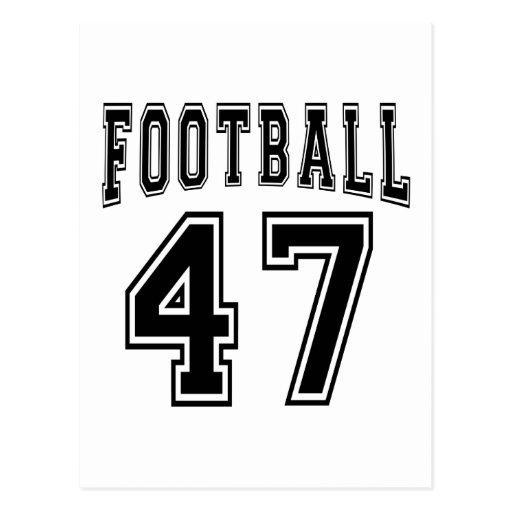 Football Crazy 47 Birthday Designs Postcard
