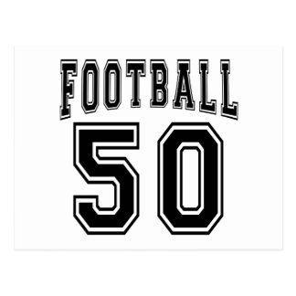 Football Crazy 50 Birthday Designs Post Card