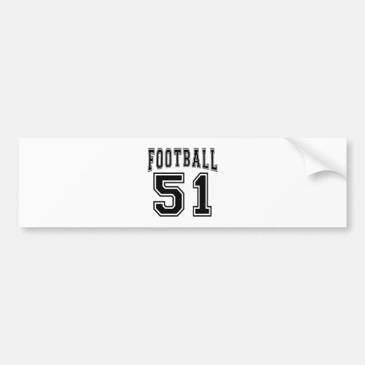 Football Crazy 51 Birthday Designs Bumper Sticker