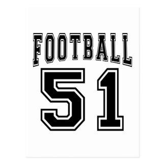 Football Crazy 51 Birthday Designs Postcard