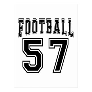 Football Crazy 57 Birthday Designs Post Cards