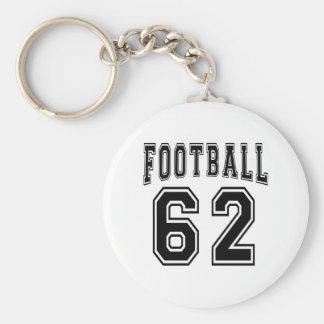 Football Crazy 62 Birthday Designs Key Chains