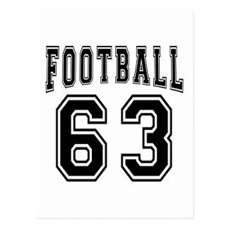Football Crazy 63 Birthday Designs Post Card