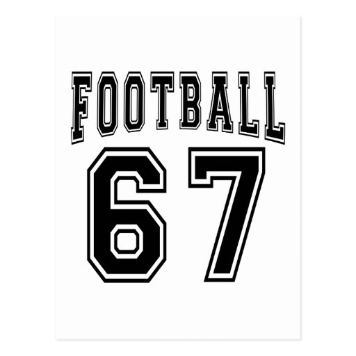 Football Crazy 67 Birthday Designs Post Cards