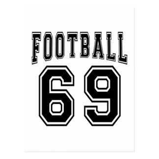 Football Crazy 69 Birthday Designs Post Cards