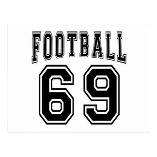 Football Crazy 69 Birthday Designs Postcards