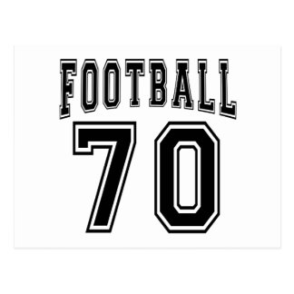 Football Crazy 70 Birthday Designs Postcard