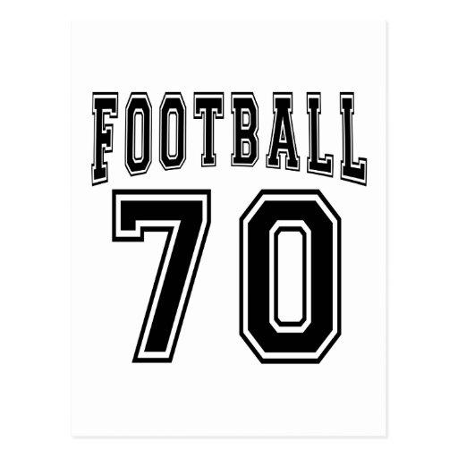 Football Crazy 70 Birthday Designs Post Card