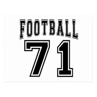 Football Crazy 71 Birthday Designs Postcard
