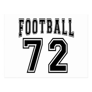 Football Crazy 72 Birthday Designs Postcard