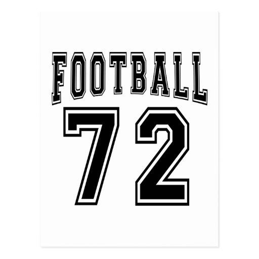 Football Crazy 72 Birthday Designs Post Card