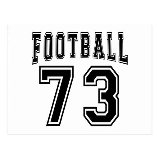 Football Crazy 73 Birthday Designs Post Cards