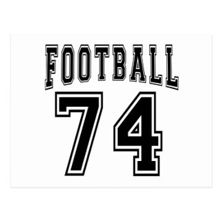 Football Crazy 74 Birthday Designs Post Cards