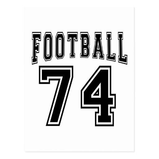 Football Crazy 74 Birthday Designs Postcards