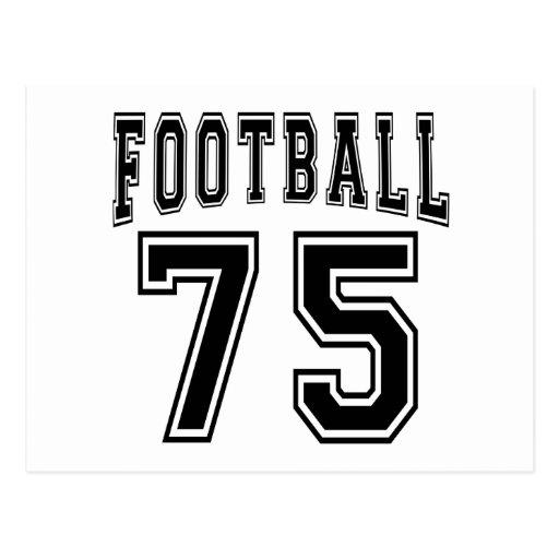 Football Crazy 75 Birthday Desigs Postcard