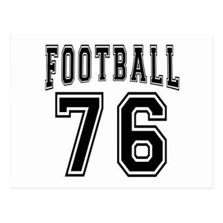 Football Crazy 76 Birthday Designs Post Cards