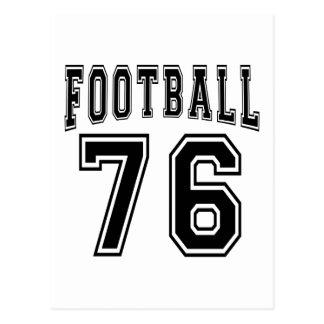 Football Crazy 76 Birthday Designs Post Card