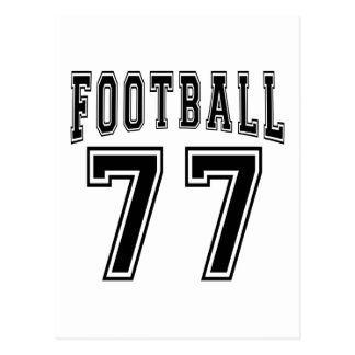 Football Crazy 77 Birthday Designs Postcards