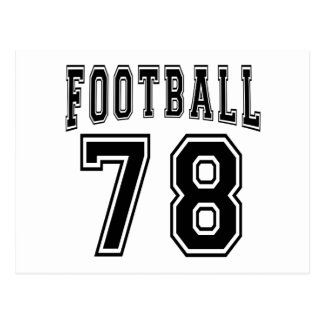 Football Crazy 78 Birthday Designs Post Cards