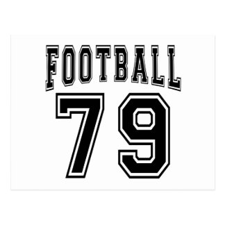 Football Crazy 79 Birthday Designs Post Cards