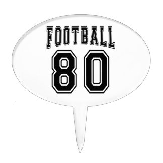 Football Crazy 80 Birthday Designs Cake Topper
