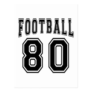 Football Crazy 80 Birthday Designs Post Cards