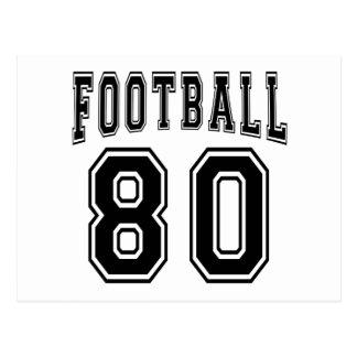 Football Crazy 80 Birthday Designs Post Cards