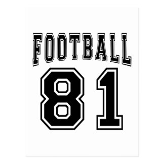 Football Crazy 81 Birthday Designs Post Cards