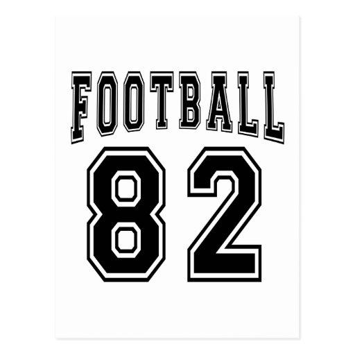 Football Crazy 82 Birthday Designs Postcard