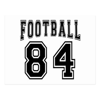 Football Crazy 84 Birthday Designs Post Cards
