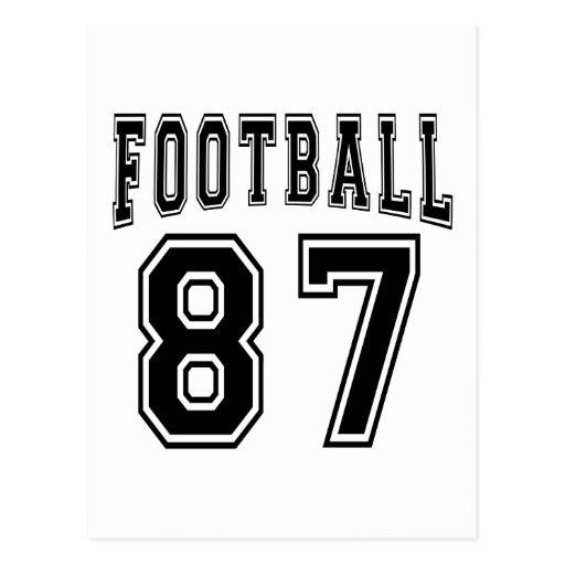 Football Crazy 87 Birthday Designs Post Card