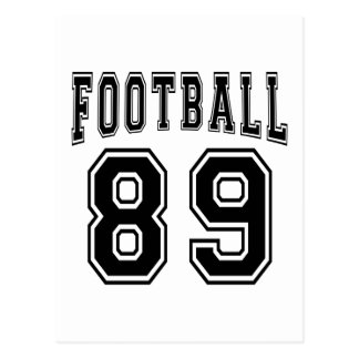 Football Crazy 89 Birthday Designs Post Card