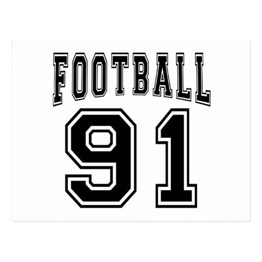 Football Crazy 91 Birthday Designs Post Cards