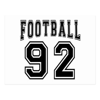 Football Crazy 92 Birthday Designs Postcards