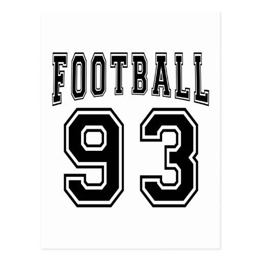 Football Crazy 93 Birthday Designs Post Card