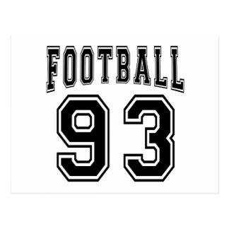 Football Crazy 93 Birthday Designs Postcard