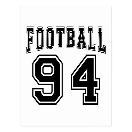 Football Crazy 94 Birthday Designs Postcard