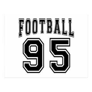 Football Crazy 95 Birthday Designs Post Card