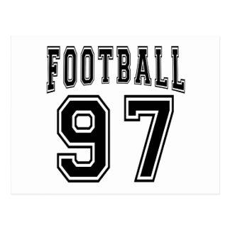 Football Crazy 97 Birthday Designs Post Card