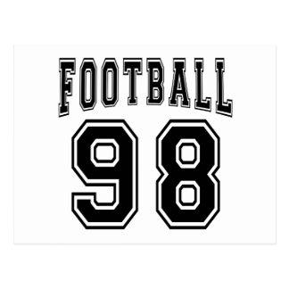 Football Crazy 98 Birthday Designs Postcards