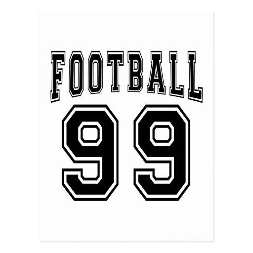 Football Crazy 99 Birthday Designs Postcards