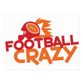 football crazy postcard