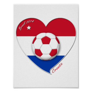 "Football ""CROATIA"" Soccer Team Soccer the Croatia  Print"