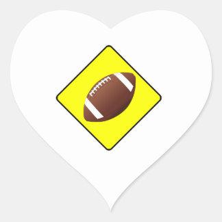 Football Crossing Sign Sticker