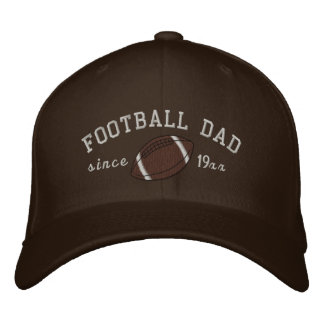 Football dad - Add your own year! Embroidered Hat