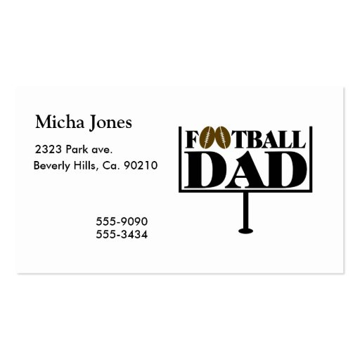 Football Dad Goal Post Business Cards