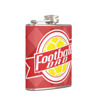 Football Dad Stainless Steel Hip Flask, Soccer Hip Flask
