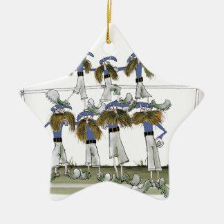 football defenders blue kit christmas ornament